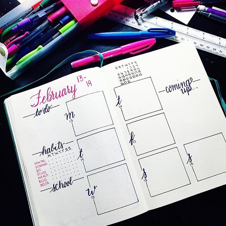 bullet journal how to record tasks with no end date